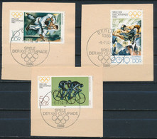RDA- JO De Moscou YT 2187-2189 Obl./ DDR-Olympische Sommerspiele Mi.Nr. 2528-2530 Gest. - Gebraucht