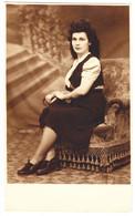 Antique Photo - PC Size - N. Vesa - Giurgiu - Romania - Lady On Chair - Oud (voor 1900)