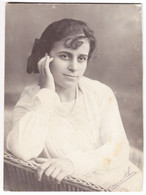 Antique Photo - PC Size - Romania - Distinguished Lady - Oud (voor 1900)