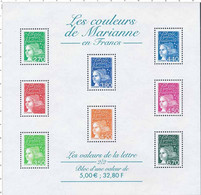 BF 42 (2001) Les Couleurs De Marianne En Francs - Ungebraucht