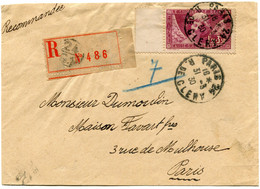 FRANCE LETTRE RECOMMANDEE AFFRANCHIE AVEC LE N°256 DEPART PARIS 31-3-30 R. DE CLERY POUR LA FRANCE - Brieven En Documenten