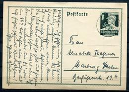 """German Empires, DR 1935 Ganzsache Mi.Nr. P 253 """"Nothilfe-SA-Mann"""" Mit Tstp.""""Lüchow """"nach Marburg """"1 GS Used - Ganzsachen"""