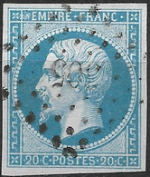 France-Yvert N°14B- Variété Suarnet N°19-Oblitéré Petit Chiffre - 1853-1860 Napoleon III