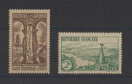FRANCE. YT   N° 301/302  Neuf *   1935 - Ungebraucht