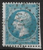 France-Yvert N°22 Oblitéré-Variété- Position 150B1 - 1862 Napoleon III