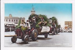 CP ALGERIE ALGER 5 Juillet 1963 Premier Anniversaire De L'independance Défilé Des Tracteurs Agricoles - Algiers