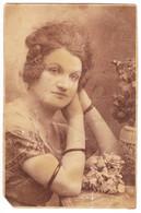Antique Photo - PC Size - N. Buzdugan - Bucuresti - Romania - Distinguished Lady - Oud (voor 1900)