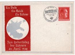 DR Sonderumschlag Zum Geburtstag Des Führers Mit MiNr 664 Und SST WIEN 20 - APRIL - 1938 - Briefe U. Dokumente