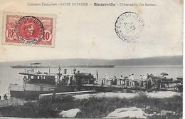COTE D'IVOIRE - BINGERVILLE - DEBARCADERE DES BATEAUX - INEDIT ! CPA BIEN ANIMEE POSTEE EN 1910 COL. B.S.T. - Ivory Coast