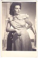 Large Antique Photo 1942 - CABINET - M. Bilinski - Bucuresti - Romania - Lady Posing - Oud (voor 1900)
