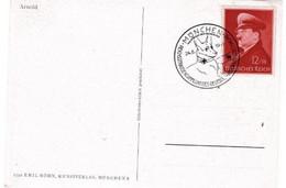 DR Kunstkarte Mit MiNr 772 Unsd SST MÜNCHEN Reichsstraensammlung Des Deutschen Roten Kreuzes; 24-8-41 - Briefe U. Dokumente