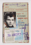 Bulgaria 1973 Sofia City Public Transport Season Ticket W/3 Revenue Stamps (m662) - Briefe U. Dokumente