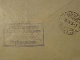 ALLEMAGNE  1915 Cachet Armée Commando  Pour La SUISSE  ZURICH - Briefe U. Dokumente