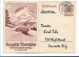 OY197 / Olympiade Dt. Reich - P 260 Bedarfsverwendet In Die USA Ex Soest - Briefe U. Dokumente