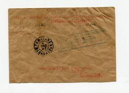 !!! MADAGASCAR, LETTRE DE TAMATAVE DE 1945 AFFRANCH EN NUMERAIRE; TAXE A 2F, GRIFFE ENCADREE EN BLEU - Covers & Documents