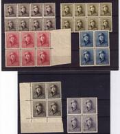 LOT CASQUE ** / MNH BLOC DE 4 Et BLOC  De 6  à   4,95 - 1919-1920 Roi Casqué