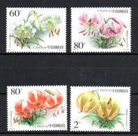 CHINE - CHINA - 2003 - FLOWERS - FLEURS - BLUMEN - - Ungebraucht