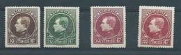 N° 289/292** - 1929-1941 Grand Montenez