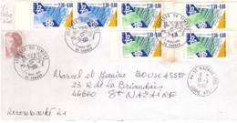 FRANCE - Lettre Journée Du Timbre -  56 Vannes - 17 Mars 1990 - Briefe U. Dokumente