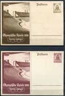 """German Empires 1936 Ganzsachen Olympia 36 Mi.Nr.P260/61 """"Olympische Spiele In Berlin """" 2 GS Blanco - Ganzsachen"""