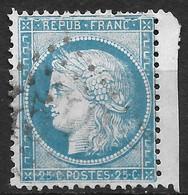 France-Yvert N°60A Variété Grande Cassure-Position 150 A2-Oblitéré - 1871-1875 Ceres