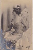 """ARTISTE .THEATRE.CPA .ANNÉES 1900."""" CAVALIERI """". PROFIL.BEAUTE.COIFFURE . PHOTO D'ART REUTLINGER PARIS . - Künstler"""