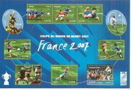 Coupe Du Monde De Rugby En France 2007. BF 110 Neuf **  (10 Timbres Neufs **) - Ungebraucht