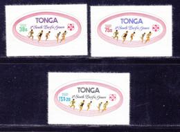 TONGA SERVICE N°   96 à 98 ** MNH Neufs Sans Charnière, TB (L1494) Sports, Jeux Du Pacifique Sud - 1975 - Tonga (1970-...)