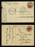 WWI ALLEMAGNE Occupation Belgique Entier POSTKARTE Surch. BELGIEN 8 Cent. BERTRIX + VERVIERS 1917 1918 Censure Gepprüft - Briefe U. Dokumente