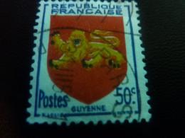 Guyenne - Armoirie De Provinces - 50c. - Outremer, Rouge, Jaune Et Noir - Oblitéré - Année 1949 - - Gebraucht