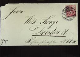 DR: Brief Mit 10 Pf Germania Vom 26.11.1901 Aus FRANKFURT A.M. An Willi Lange Dresden-A, Rosenstr. 66 Knr: 56 - Briefe U. Dokumente