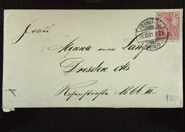 DR: Brief Mit 10 Pf Germania Vom 20.12.1901 Aus FRANKFURT A.M. An Minna Verw. Lange Dresden-A, Rosenstr. 66 Knr: 56 - Briefe U. Dokumente