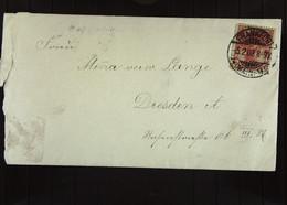 DR: Brief Mit 10 Pf Germania Vom 5.2.1902 Aus FRANKFURT A.M. An Minna Verw. Lange Dresden-A, Rosenstr. 66 Knr: 56 - Briefe U. Dokumente