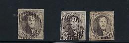 3 X Médaillon 6.  10c  Scan Recto/verso. - 1851-1857 Médaillons (6/8)