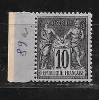 France: N°89 (*)Type Sage 10c - Ungebraucht