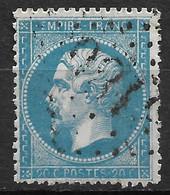 France-Yvert N°22-Variété Filets D'encadrement-Oblitéré - 1862 Napoleon III