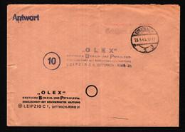 All.Bes. Antwort-Brief Freistempel EISENACH - Leipzig - 13.9.45 - Gebühr Bezahlt - Gemeinschaftsausgaben