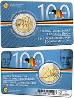 """BÉLGICA 2€ 2.021 """"Centenario De La Constitución De La Unión Económica Belga-Luxemburguesa"""" Bim. SC/UNC  T-DL-12.820 - Belgien"""