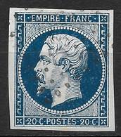 France-Yvert N°14A-Variété Suarnet N°25-Oblitéré - 1853-1860 Napoleon III