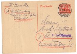 BERLIN ENTIER CARTE OBLITERE BERLIN SCHOENBERG - Briefe U. Dokumente