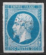 France-Yvert N°14A Oblitéré-Variété Position 14 G2 - 1853-1860 Napoleon III