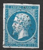 France-Yvert N°14A Oblitéré-Variété Suarnet N°23 - 1853-1860 Napoleon III