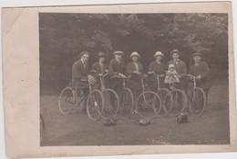 Photo Carte  Portrait : Groupe De Cyclistes. - Fotografía
