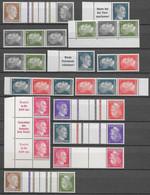 Deutsches Reich: Diverse Zusammendrucke Hitler Postfrisch ** - Se-Tenant