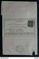 Frankreich 1889 - Nachforschungsauftrag Innerhalb Des Ortes - La Châtaigneraie - 1876-1898 Sage (Type II)