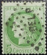 N°53f Cérès 5c. Fond Ligné. Oblitéré Ambulant BEL P (Belfort à Paris) T.B.... - 1871-1875 Ceres
