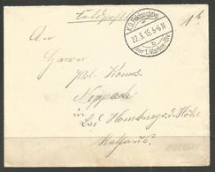GERMANY. 1915. WW1. COVER. FELDPOST. 1st MARINE DIVISION. ADDRESSED TO HAMBURG. - Briefe U. Dokumente