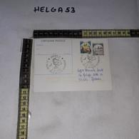 FB11915 CARTOLINA POSTALE VERONA 1987 TIMBRO ANNULLO VINITALY 21'' SALONE INTERNAZIONALE VITIVINICOLE - 1981-90: Storia Postale