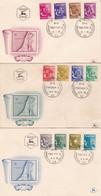 ISRAEL 1956, FDC. LOT 3 ENVELOPPES. TRIBU D'ISRAL, TRIBES.-LILHU - FDC