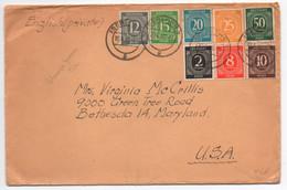 Brief, Iserlohn, (engl. Zone), MeF, Gel. 1940, Nach Maryland, USA - Bizone